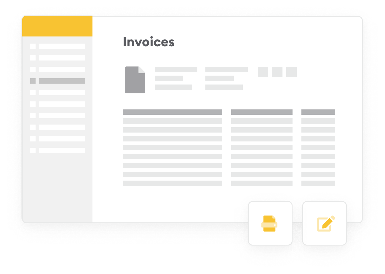 Screen invoices