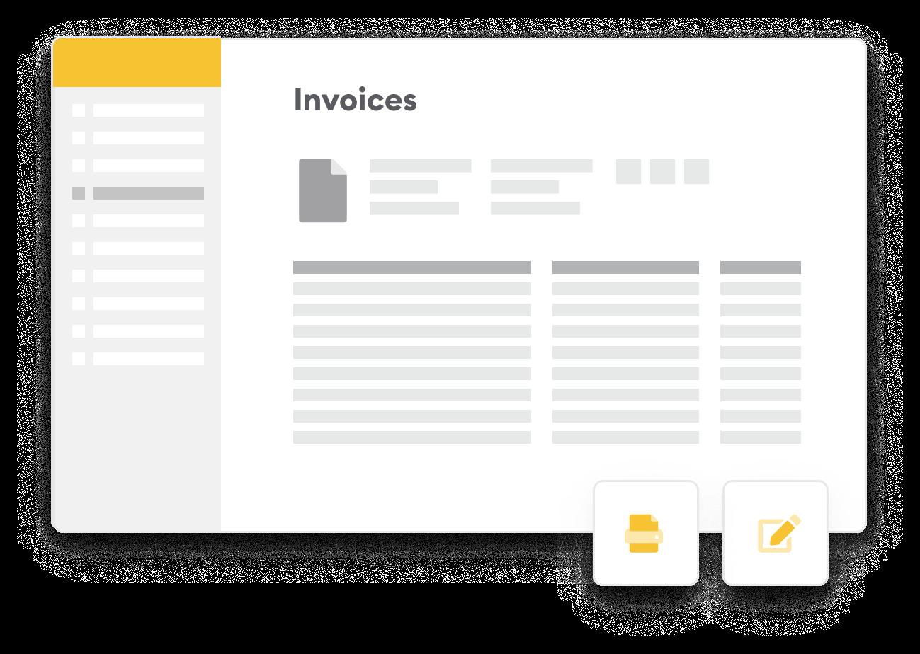 Screen invoices