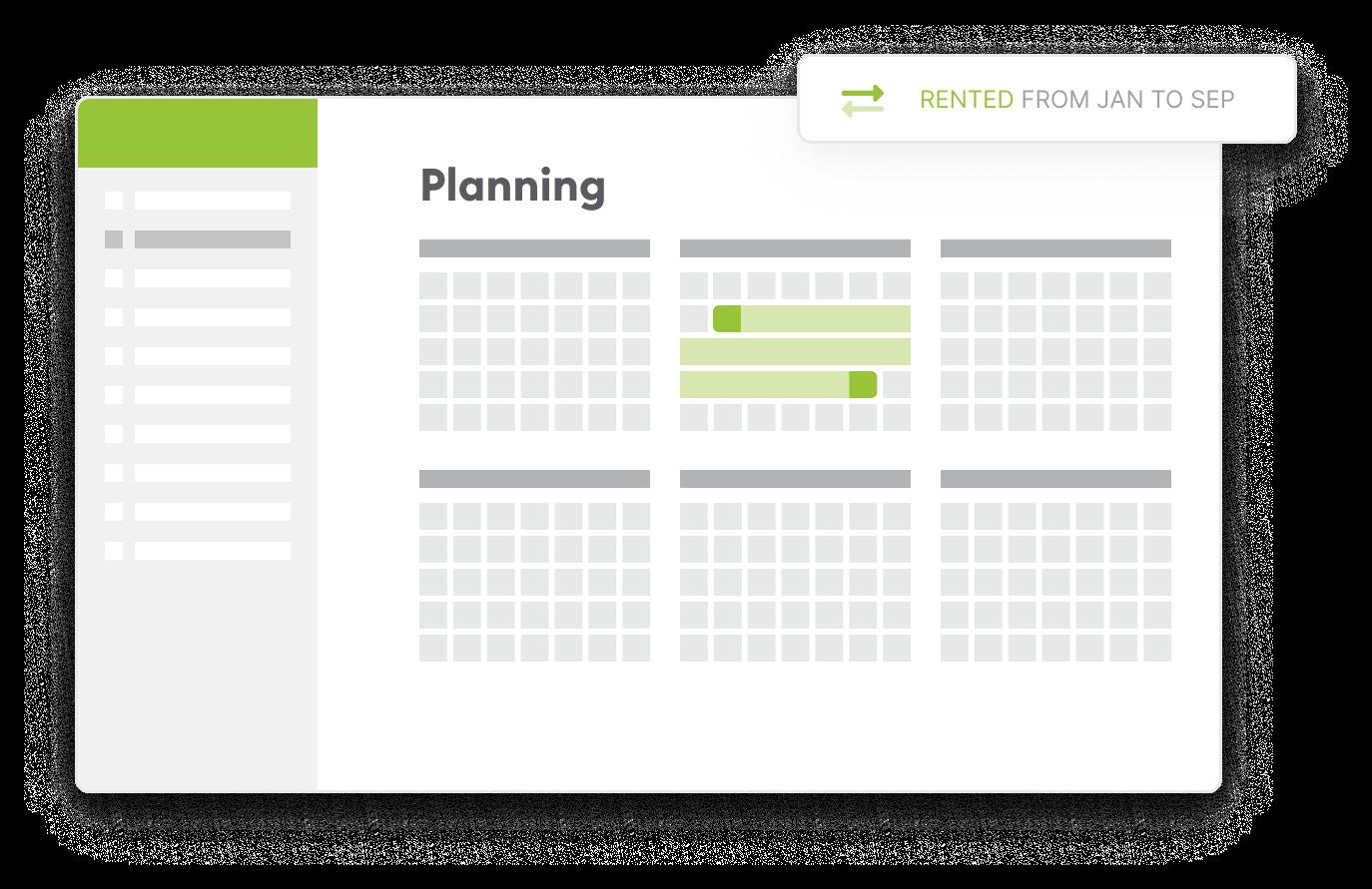 Screen planning